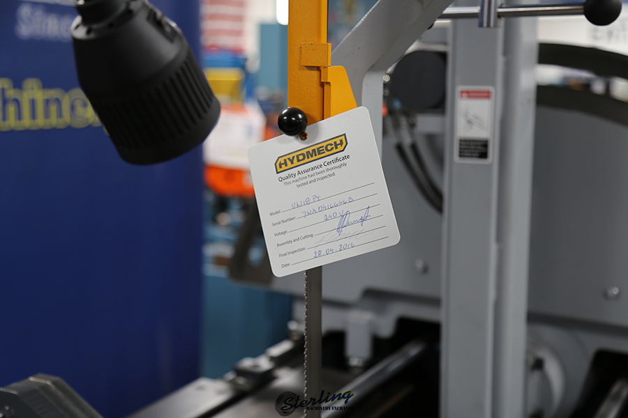 brand new hydmech semi-automatic vertical mitering band saw VW-18