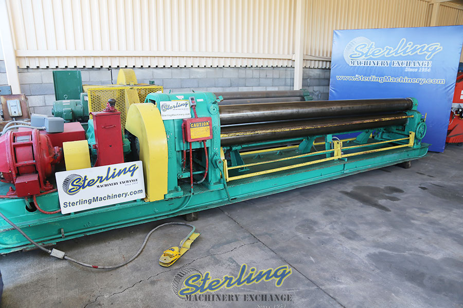 used webb mechanical powered plate roll 6L