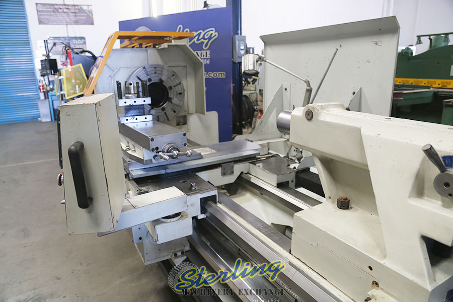 used eisen heavy duty hollow spindle gap bed engine lathe with double chuck and 10 hole thru spindle PA35