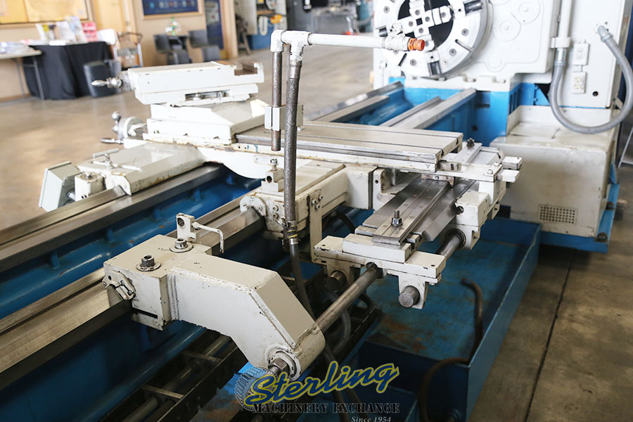 used mazak heavy duty oil country lathe with 12-1/2 hole thru spindle Oil Country