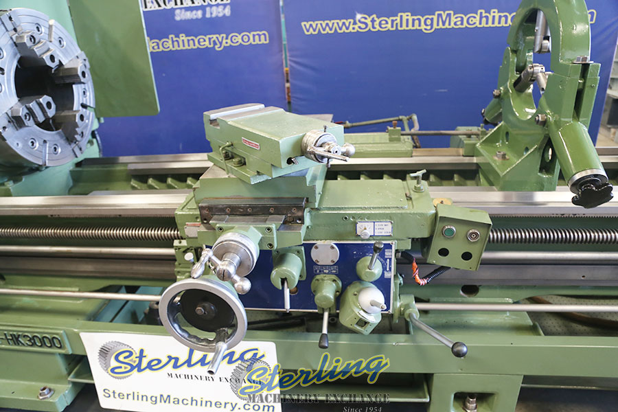 used kingston oil country engine lathe, heavy duty engine lathe with 12.5 hole thru spindle, year 2007 HK-3000