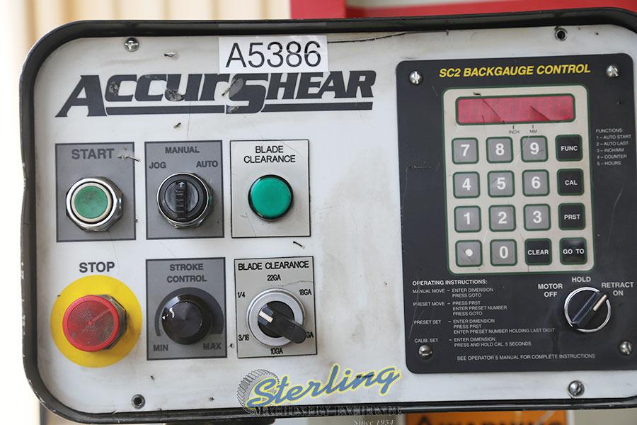 used accurshear hydraulic shear, all above ground. 625020