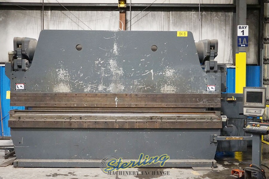 250 Ton x 12' CNC Hydraulic Accurpress Brake for Stainless Steel Bending