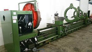 Used Annn Yang Geared Head Gap Bed Lathe with Double Carriage