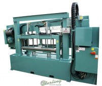 Brand New W.F. Wells Hydraulic Semi-Automatic Grating & Paneling Horizontal Twin Post Band Saw