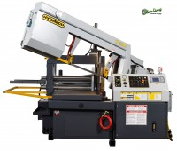 Brand New Hydmech Automatic Dual Post Horizontal Band Saw with 10' Bar Feed