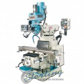 Brand New Baileigh Variable Speed Vertical Milling Machine With Inverter Head, 2 Axis DRO, X/Y Power Feeds