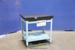 Used Brown & Sharpe Surface Plate With Stand (2 Ledge)