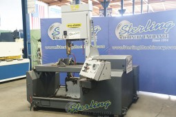 Used Hyd-Mech Vertical Bandsaw Tilting Head Miter Cutting