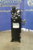 Used Husky Vertical Air Compressor With Tank - Single Phase