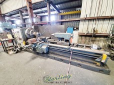 "Used Lansing Gap Bed Oil Field Big Hole Lathe ""Double Chuck Machine"""