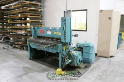 Used Wysong Power Shear With Manual Backgauge and Electric Foot Pedal