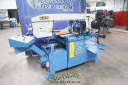 Used Baileigh Horizontal Semi-Automatic Dual Mitering (Swivel) Band Saw (Great Condition)