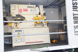 Brand New Geka Dual Cylinder Hydraulic Ironworker with Bending Station