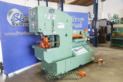 Used Piranha Hydraulic Dual Operational Ironworker With Tooling