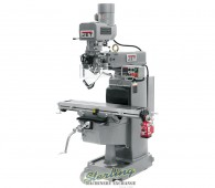 Brand New Jet Vertical Milling Machine PACKAGE.  Includes 3 Axis Acu-Rite DRO, X, Y and Z Power Feeds and Air Power Drawbar