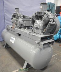 used devil bliss tank mounted twin air compressor VAW55DDG