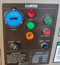 used curtis rotary type air compressor R/S 30B
