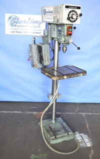 used delta floor type drill press w/ fwd./reverse foot pedal 15