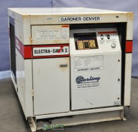 used gardner denver electra saver turn valve rotary screw air compressor Electra Saver EAH99A