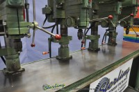 used powermatic 4 head gang drill press with large table 1150