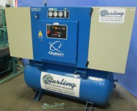 used quincy rotary screw with sound enclosure air compressor QMB-25