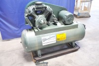 used hill bros. & co. air compressor with horizontal tank 9142