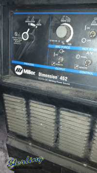 used miller wire feed arc welder Dimension 452