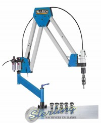 brand new baileigh double arm articulated air powered tapping machine ATM-27-1900