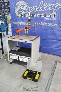 used (demo machinery) baileigh single arm articulated air powered tapping machine ATM-27-1000