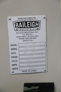 used (demo machinery) baileigh vertical gear driven mill & drill VMD-40G