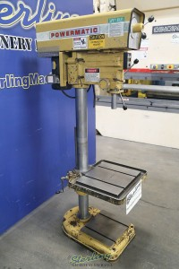 used powermatic variable speed floor drill with t-slotted table 1200