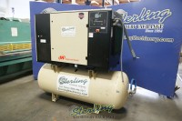used ingersoll rand air compressor with sound enclosure and air tank SSR UP6-30-150