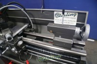 used jet engine lathe with stand, foot brake, and dro GH-1440B