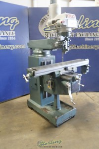 used acra vertical milling machine (variable speed)