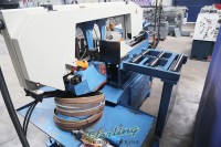 used baileigh horizontal semi-automatic dual mitering (swivel) band saw (great condition) BS-20SA-DM