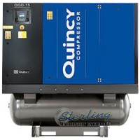 brand new quincy rotary air compressor with integrated dryer QGD-15