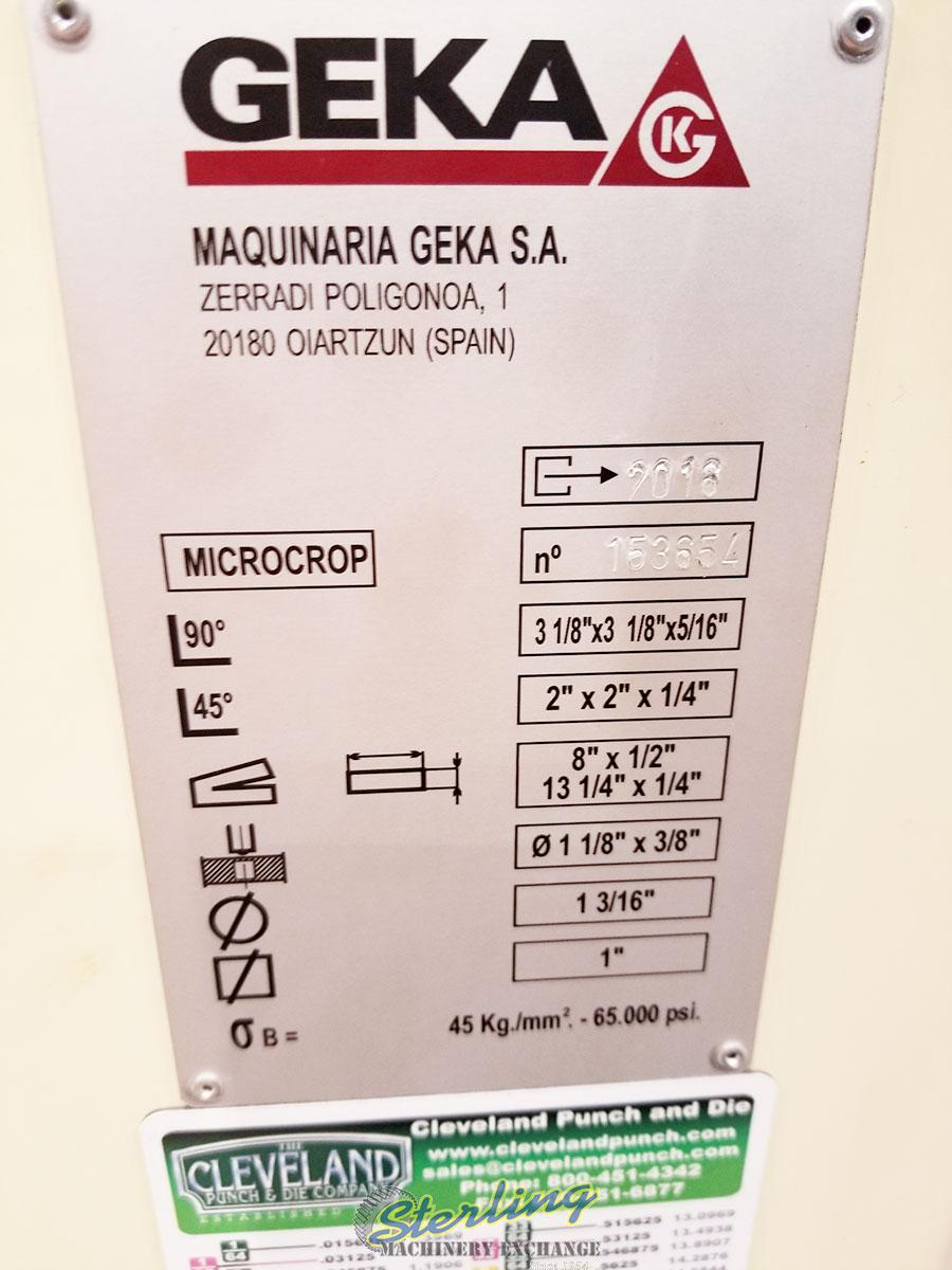 brand new geka hydraulic ironworker Microcrop 36