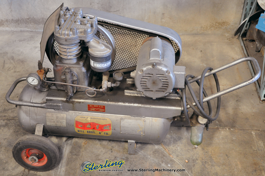 Used Hill Brothers Portable Air Compressor Sterling Machinery