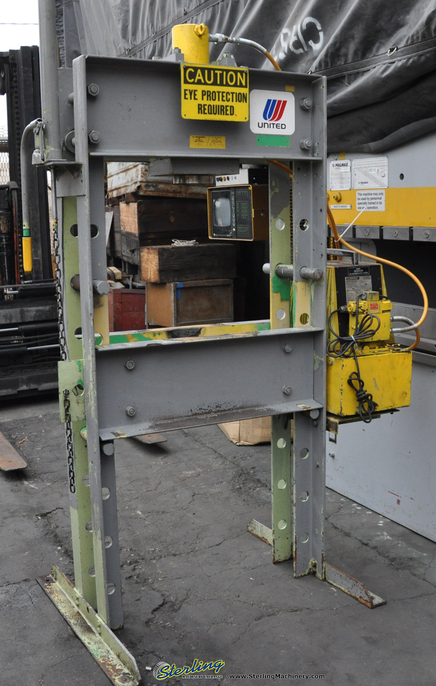 Used Enerpac Hydraulic H Frame Press Motorized Sterling