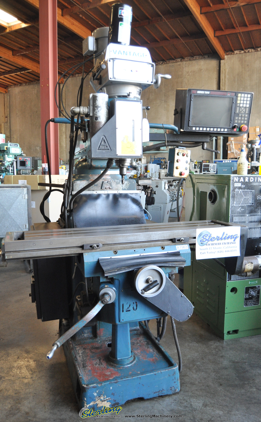 Used Vantage 3 Axis Cnc Vertical Milling Machine Needs