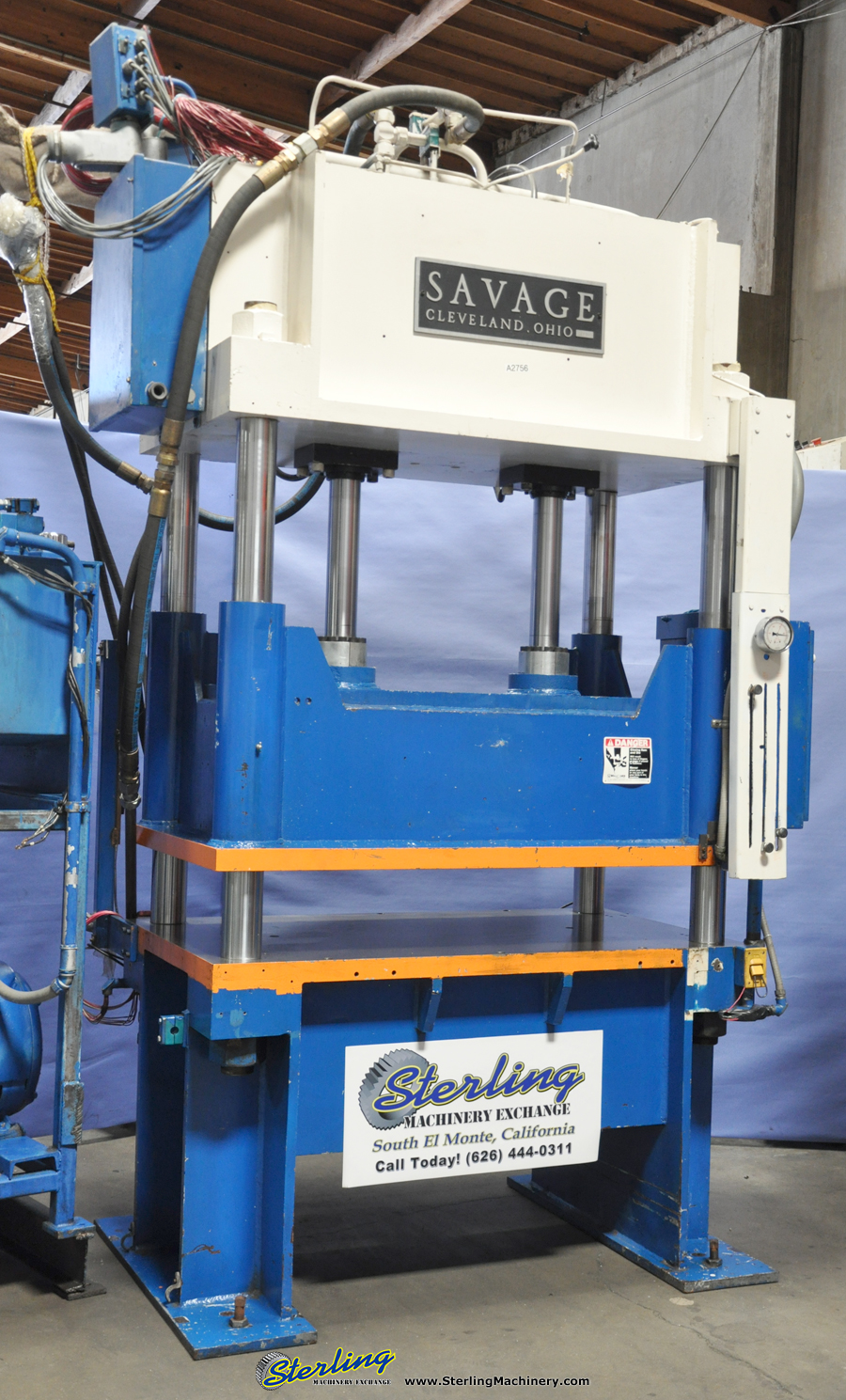 Used Savage 4 Post Hydraulic Blanking Trim Press Sterling