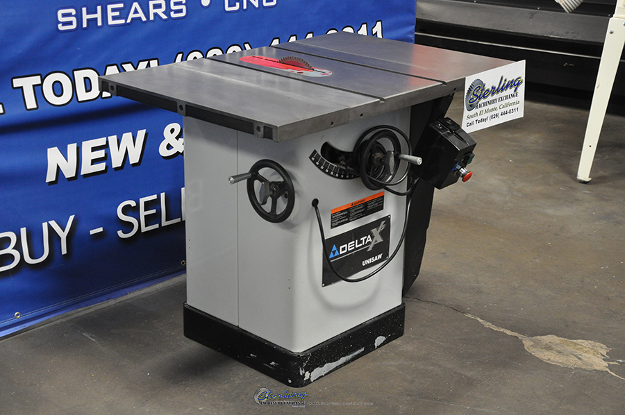 Used Delta Unisaw Woodworking Table Saw Sterling Machinery