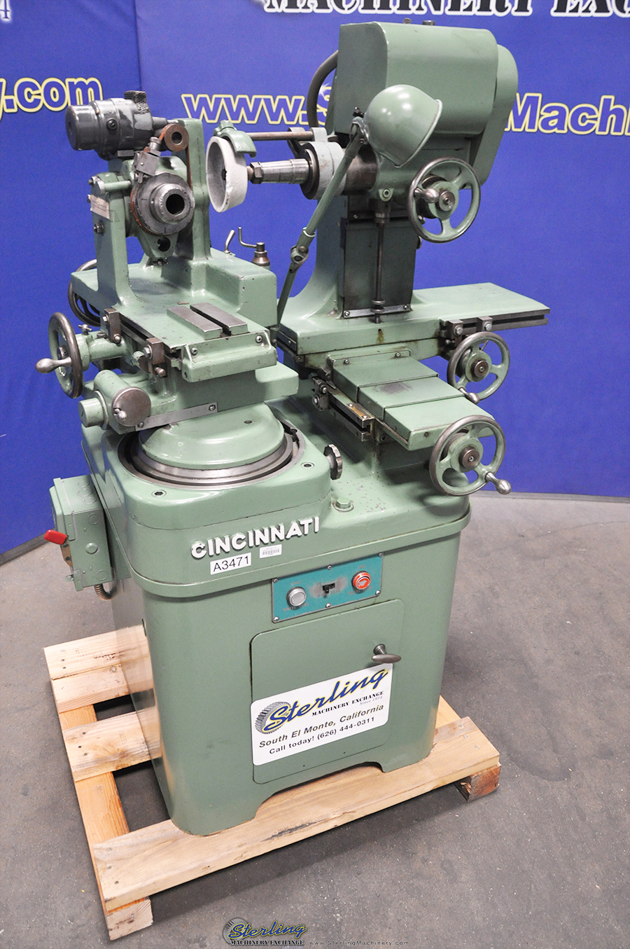 Used Cincinnati Monoset Cutter & Tool Grinder With Motorized Workhead Sterling Machinery