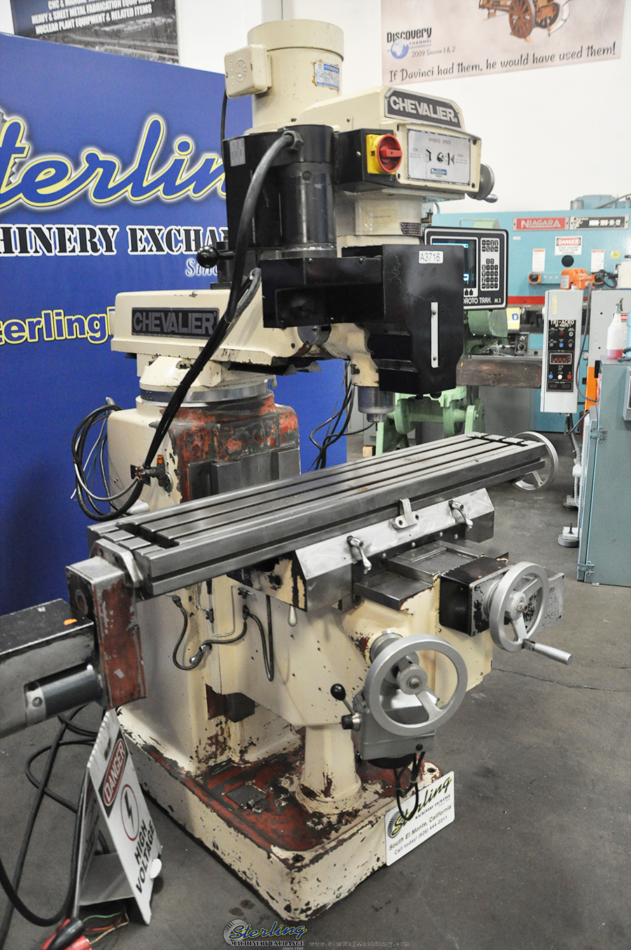 Used Chevalier 3 Axis CNC Or Manual Use Vertical Mill