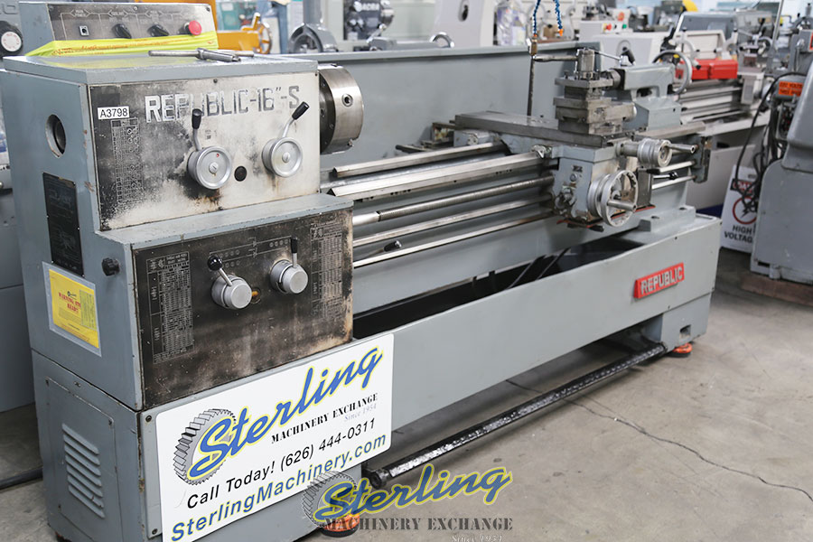 Used Republic Lagun Gap Bed Engine Lathe Lathes Sterling
