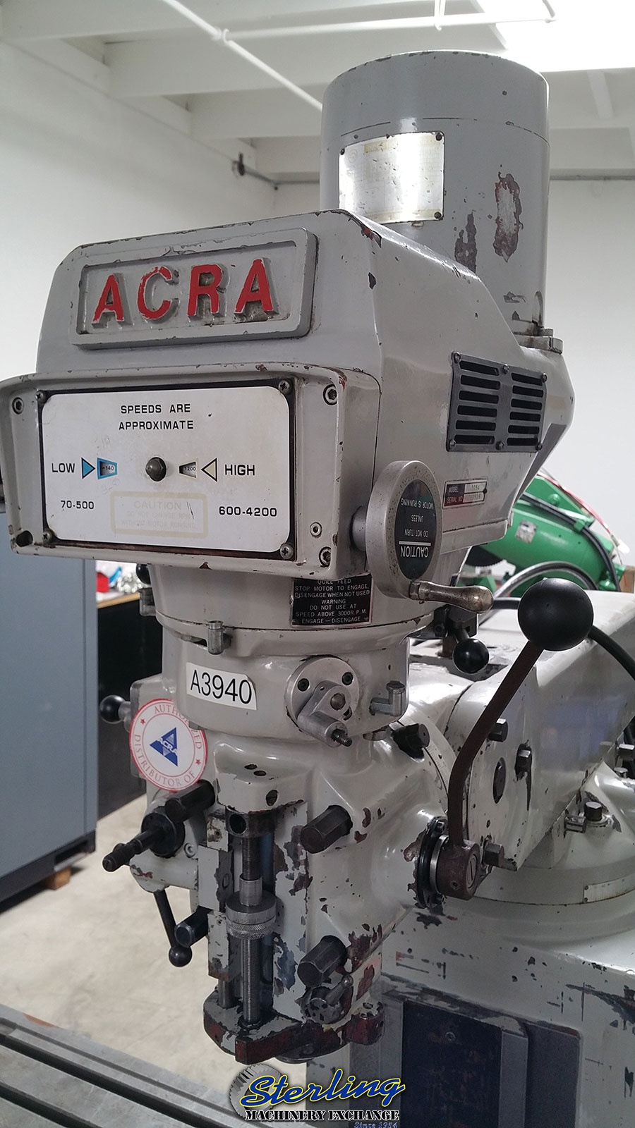 Used Acra Variable Speed Heavy Duty Vertical Milling