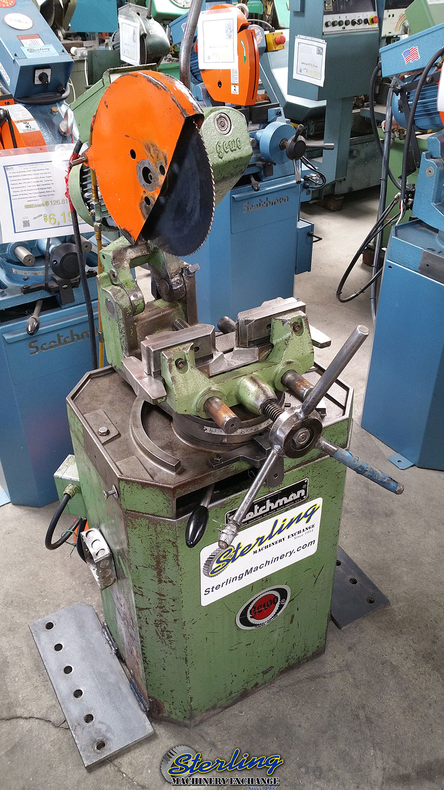 Used Scotchman Manual Circular Coldsaw Parts Machine