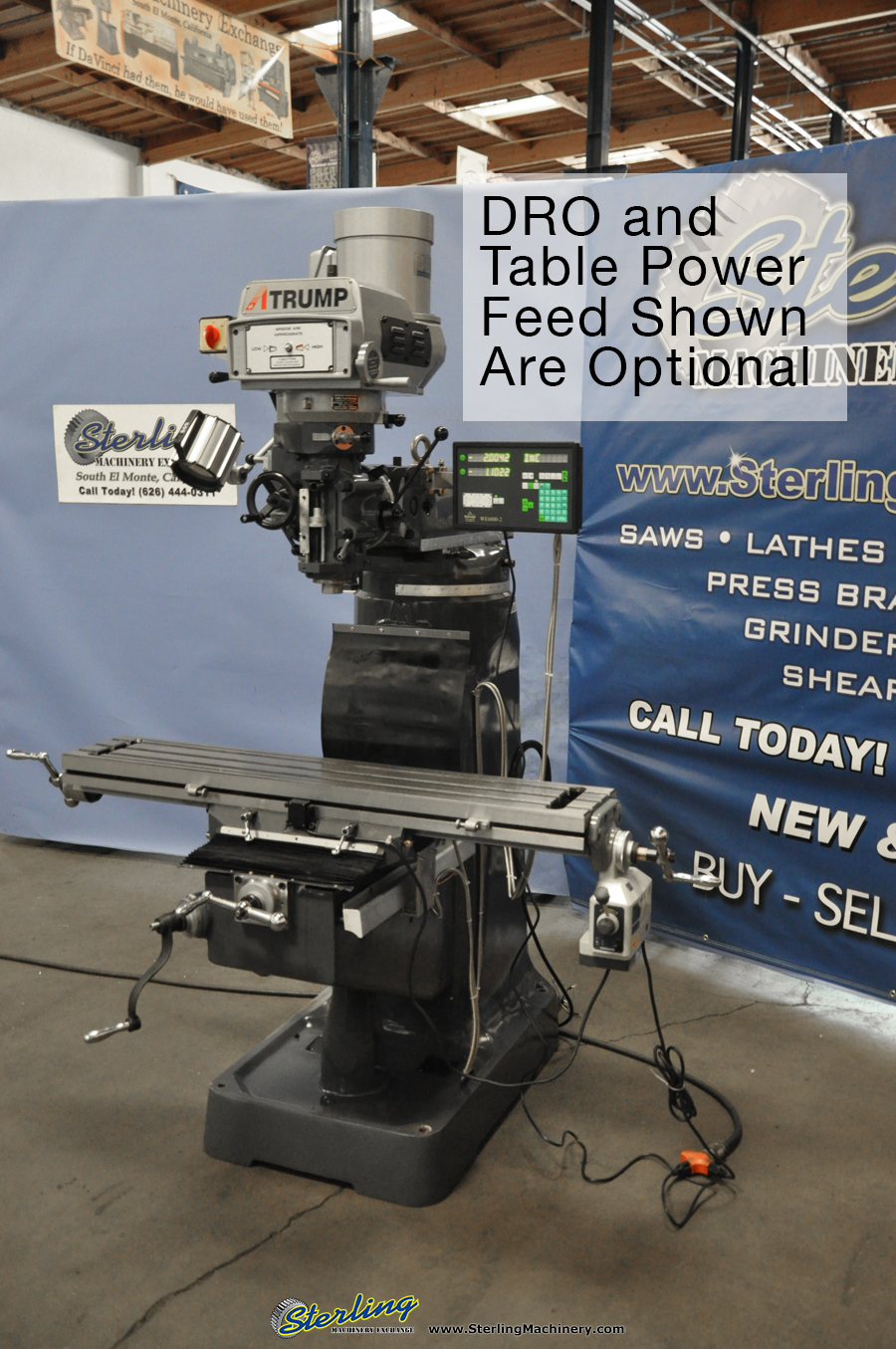 Brand New Atrump Variable Speed Vertical Milling Machine