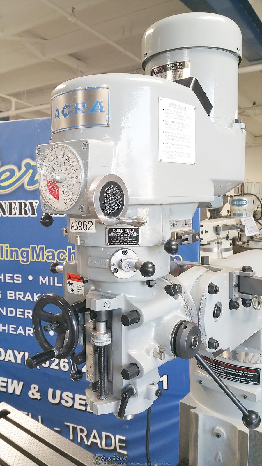 Brand New Acra Variable Speed Knee Milling Machine